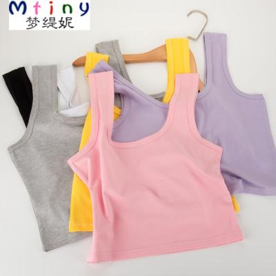 Mtiny运动吊带背心女 短款学生棉外穿修身露脐性感百搭抹胸打底衫夏