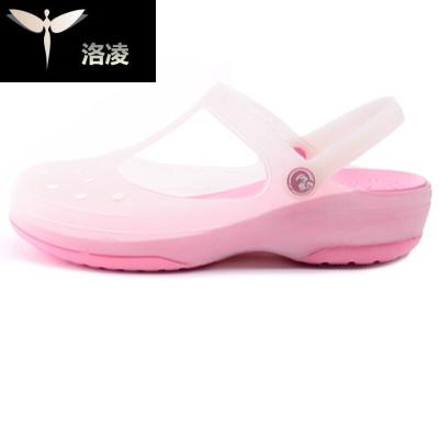 夏季儿童凉拖鞋果冻鞋女童厚底防滑凉鞋子洞洞鞋包头沙滩鞋女