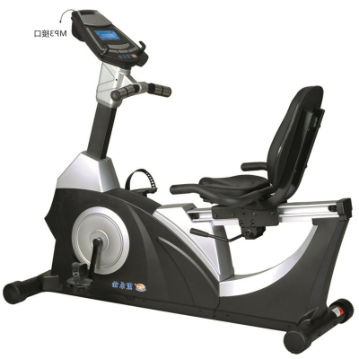 正品康乐佳健身车KLJ-9.5R商用卧式靠背磁控静音室内运动脚踏车