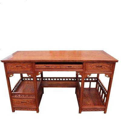 红木电脑桌台式简约刺猬紫檀游戏桌中式书桌写字桌花梨木办公桌