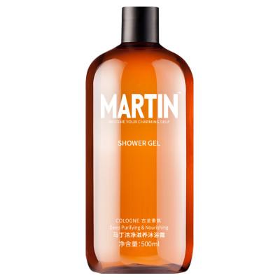 马丁(Martin) 男士沐浴露古龙淡香控油清凉爽补水保湿沐浴液500ml