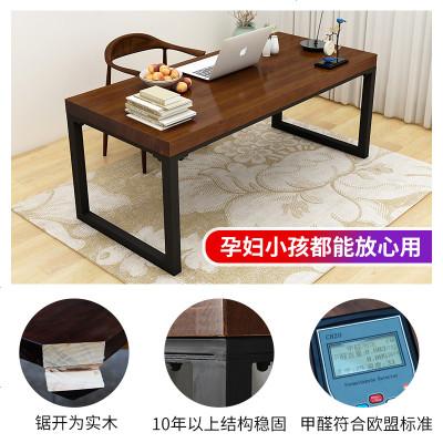 实木书桌简易学习台北欧电脑台式桌写字台简约现代美式家用办公桌