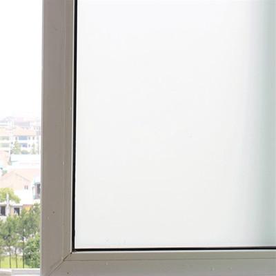闪电客纯白磨砂无胶静电玻璃贴膜透光不透明卫生间浴室移门窗户贴纸防晒 纯磨砂宽度40cm米